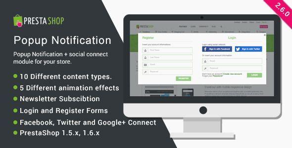 social connect para Prestashop